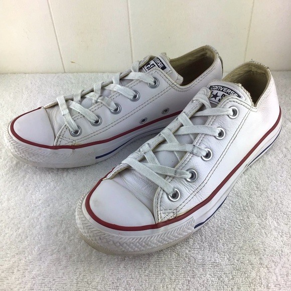 Converse All Star Leather Lo Tops M/4 W/6